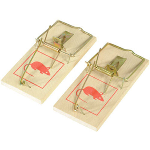 2 X Reusable Wooden Mouse Traps Catch and Kill Mice