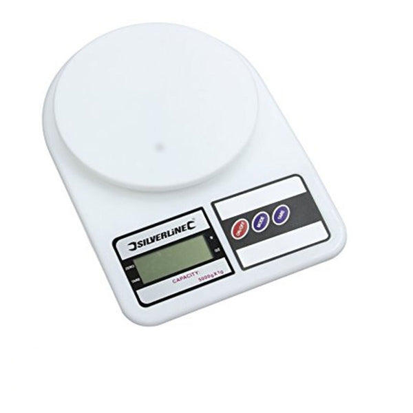 Digital Scales Metric & Imperial Max 5kg / 11lb Capacity, Battery Powered