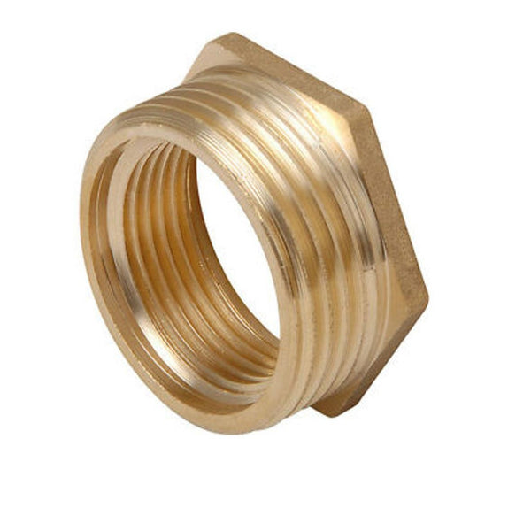 "Navigator Brass Threaded Hexagon Bush 1"" BSP PM x 1/2"""