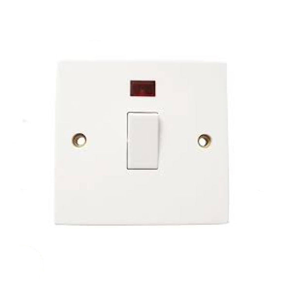 1 Gang 20A Circuit Double Pole Switch With Neon