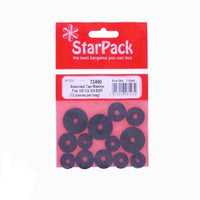 StarPack Assorted Tap Washers - To Fit 3/8in. 1/2in. And 3/4in. Bsp 72490