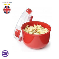 Sistema Microwave Rice Steamer, Container Hot Food Bowl Porridge Plastic Mug Klip It