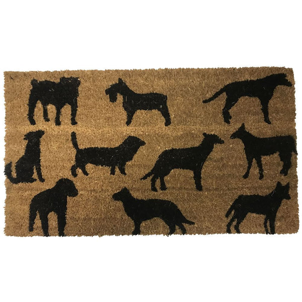 New Natural Coir Non Slip Welcome Floor Entrance Door Mat Indoor Outdoor Doormat[Dogs 40x70mm]