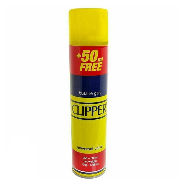 CLIPPER High Quality Universal Gas Lighter Butane Gas Fuel Fluid Refill 300ML
