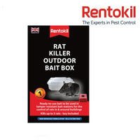 Rentokil Rat Killer Outdoor Bait Box Pest Control Rodent Bait Station