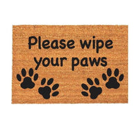 New Natural Coir Non Slip Welcome Floor Entrance Door Mat Indoor Outdoor Doormat[Wipe Your Paws 40x70mm]