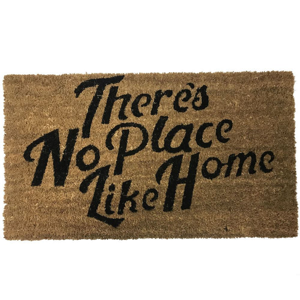 New Natural Coir Non Slip Welcome Floor Entrance Door Mat Indoor Outdoor Doormat[Theres No Place Like Home 40x70mm]