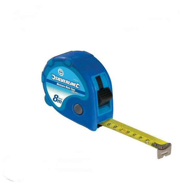 Measure Mate Tape 8M / 26ft x 25mm Auto Return Lockabale Tape