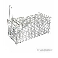 Fixman Rat Cage Trap 300 x 150 x 130mm 196052 - Humane Capture