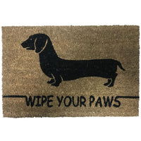 New Natural Coir Non Slip Welcome Floor Entrance Door Mat Indoor Outdoor Doormat[Sausage Dog (Brown) 40x60mm]