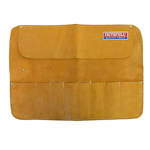 Faithfull FAILCR8 8 Pocket Leather Chisel Roll
