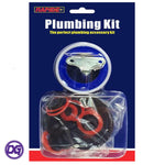 30 Pce Plumbing Kit for tackling blocked sinks, leaking pipes & dripping taps