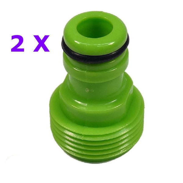"Double Male Tap & Accessory Adaptors 3/4 - 1/2"" PACK OF 2"