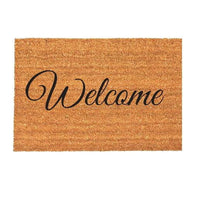 Natural Coir Rubber Back Non Slip Doormat Floor Entrance Door Mat Indoor Outdoor[Welcome Italic]