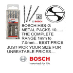 Genuine BOSCH 4.5MM (Pack of 10Nos) HSS-G JOBBER METAL DRILL BITS 2608595061