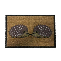 Natural Coir Non Slip Doormat, Indoor/Outdoor Entrance Mat- Festive Indoor Mat[Hedgehogs 40x60mm]