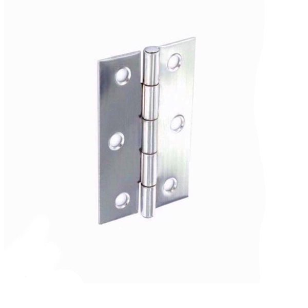 Securit S4308 Stainless Steel Butt Hinges Zinc Plated 75mm Pack Of 2 Wipe Clean