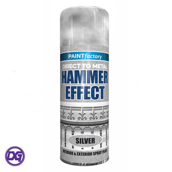 SILVER HAMMERED SPRAY PAINT DIRECT TO METAL HAMMER EFFECT 400ML