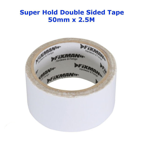 DOUBLE SIDED TAPE Super Hold Extra Strong Adhesive Sticky Craft Clear (50mm x 2.5M)