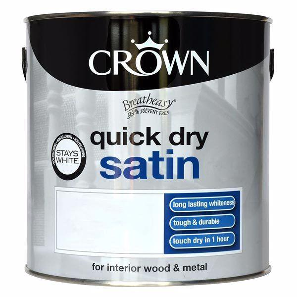 CROWN PAINT QUICK DRY SATIN 2.5LT