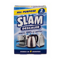 SLAM All Purpose Descaler for Kettle Steam Irons Coffee Machine Shower Head