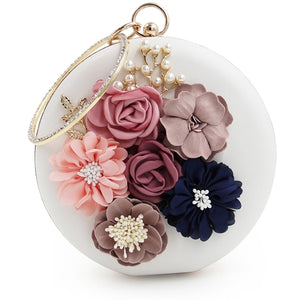 Minaudiere Clutch Bag with floral