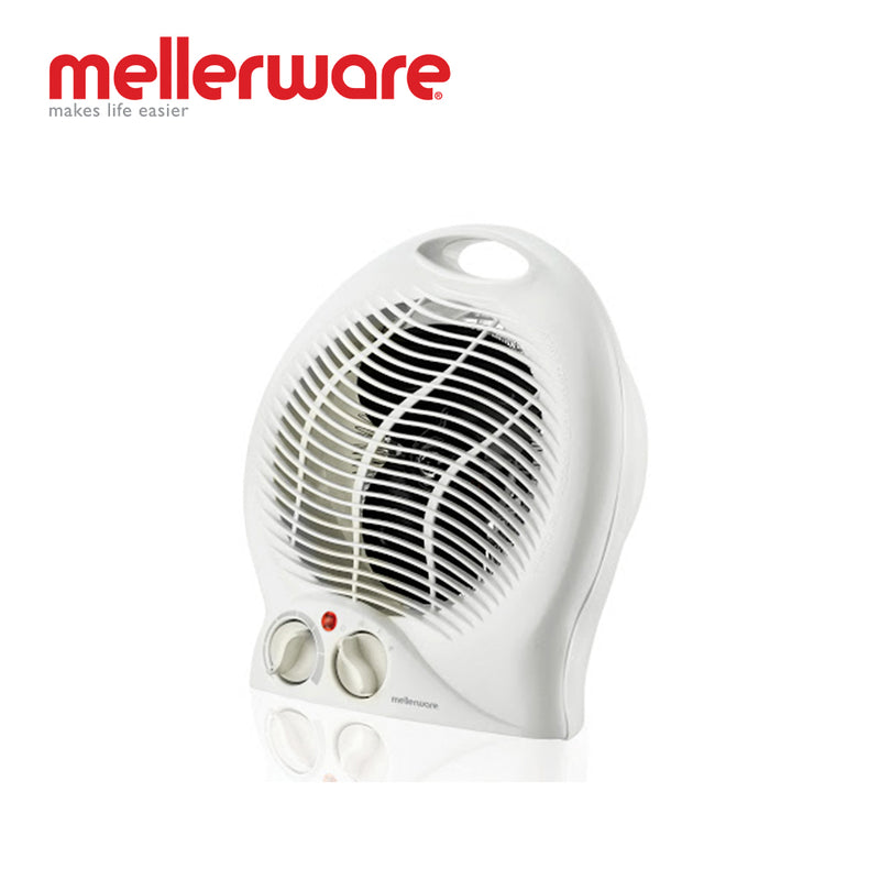 mellerware white floor fan heater