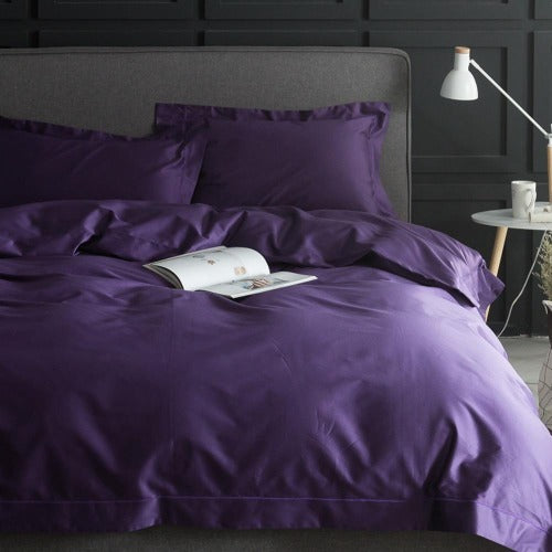 Dark Purple Pima Cotton Bedding Set