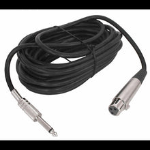 Pro-Audio XLR 3 Pin Female to 1/4 IN Mono Male Cable