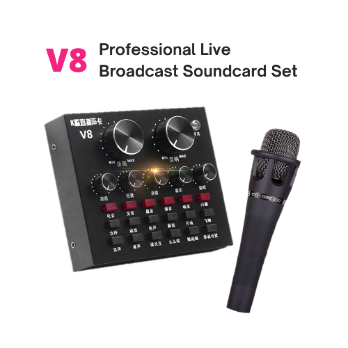 V8 Audio USB External Sound Card + Microphone
