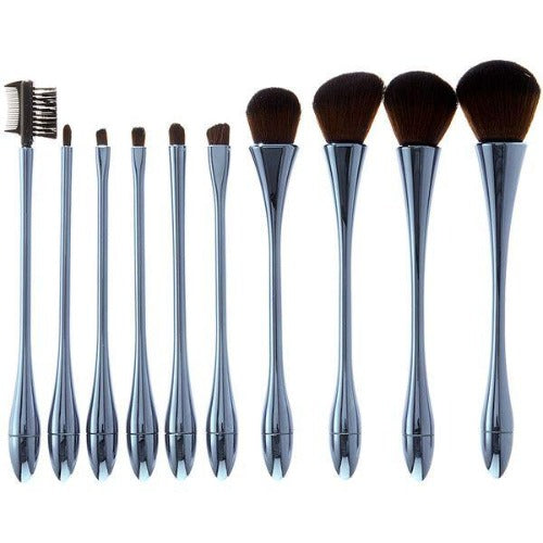 10 Piece Hour Glass MakeUp Brush Set