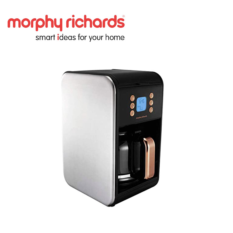 Morphy Richards Coffee Maker Drip Filter 12Cup 900W Accents Rose Gold