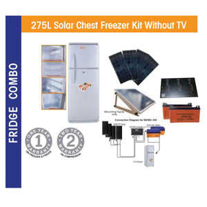 275L Solar Chest Freezer Kit Without TV