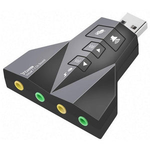 USB External Stereo Sound Adapter, Double USB Microphone & Double USB Headset