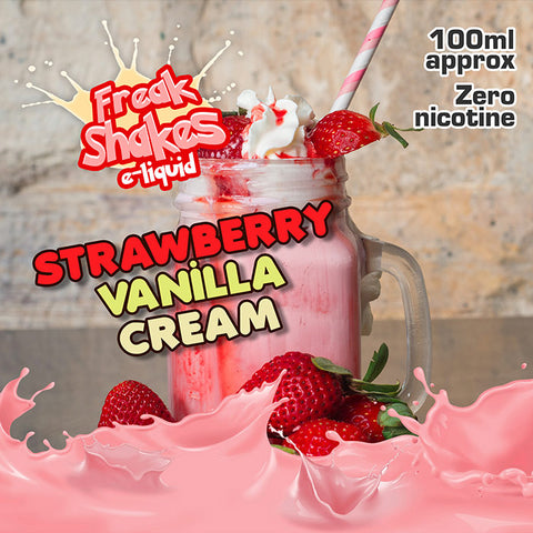 STRAWBERRY VANILLA CREAM - FREAK SHAKES E-LIQUID - 70VG/30PG - 100ML