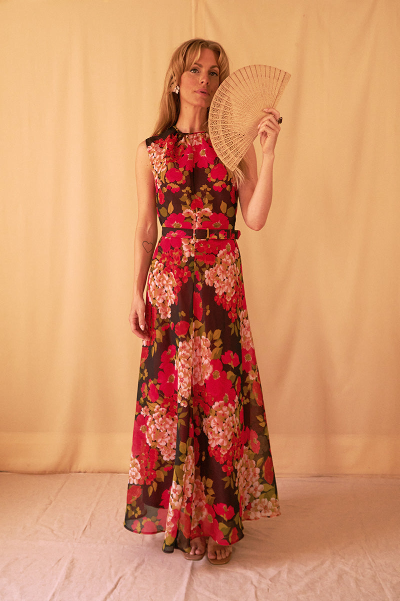 Red Flower Field Dress