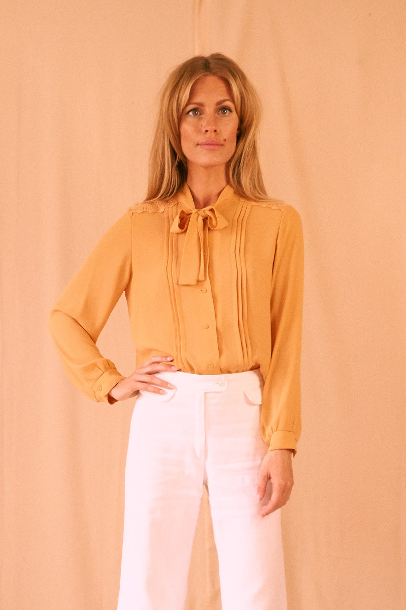 Golden Sun Tie Blouse