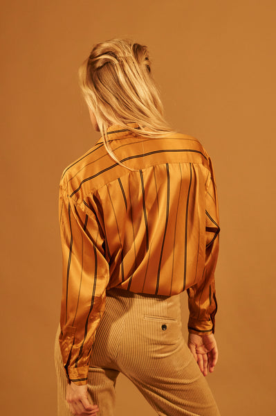 Orange Stripe Blouse