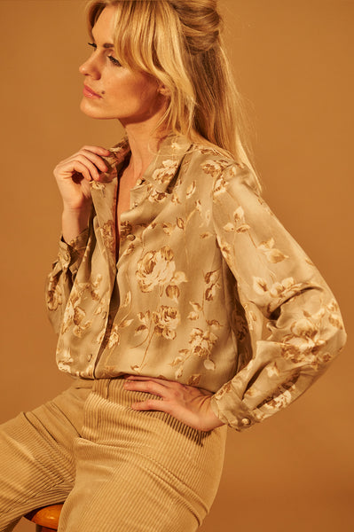 Rose Silk Blouse