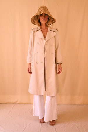 70's Cream Trenchcoat