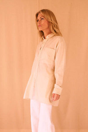 Cream Oversized Shirt