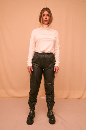 Straight Leather Pants