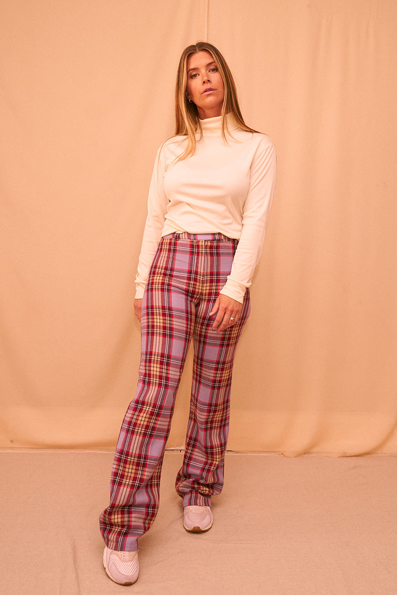 Wool Check Pants