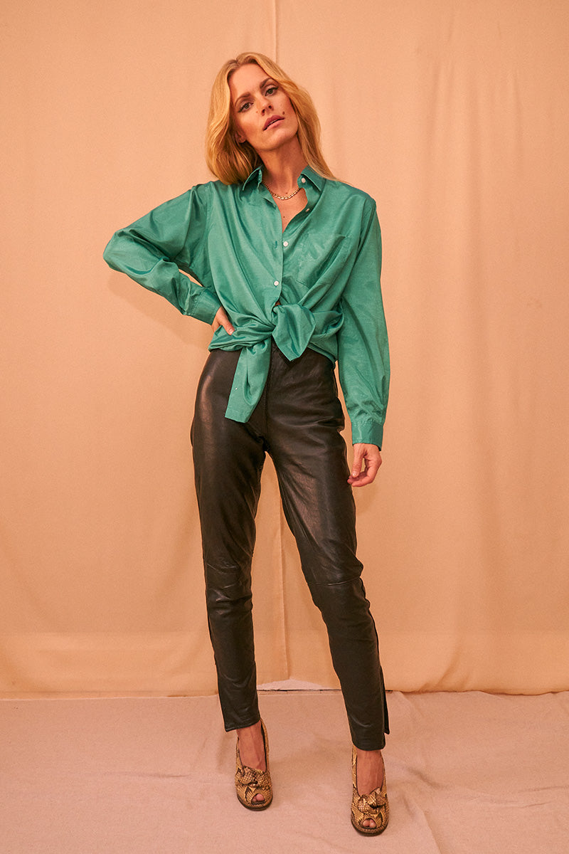 Highwaist Leather Pants