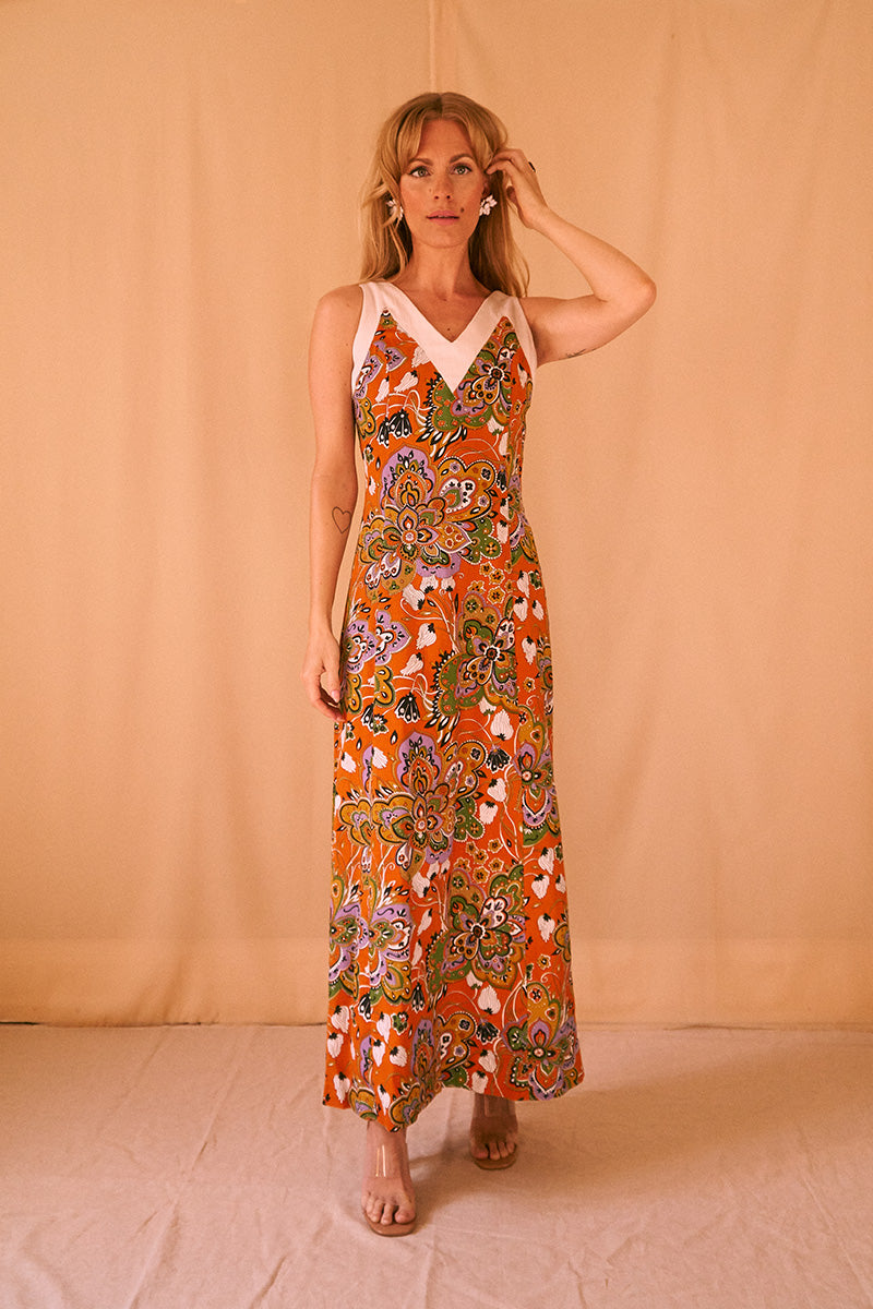 70's Unique Maxi Dress