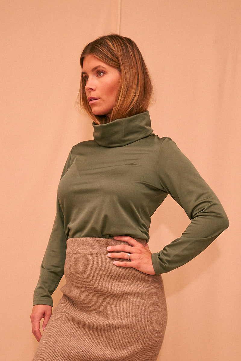 Forrest Green Turtleneck