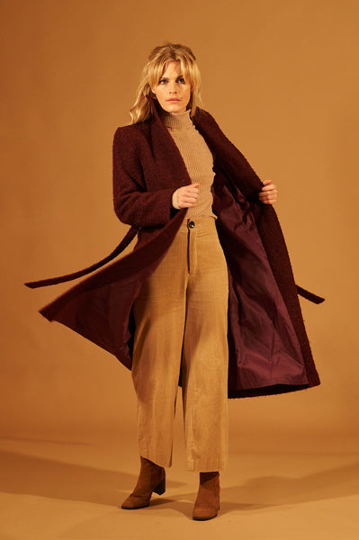 Burgundy Wool Coat