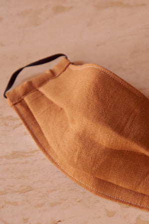 Face Mask Golden Linen