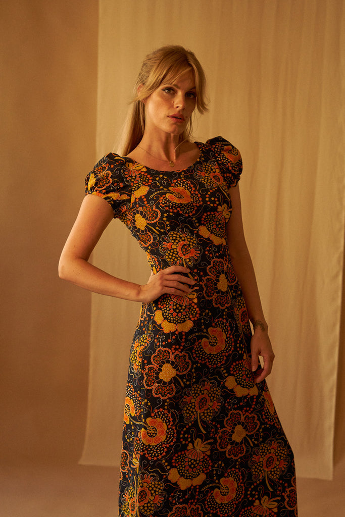 70's Flower Power Dress