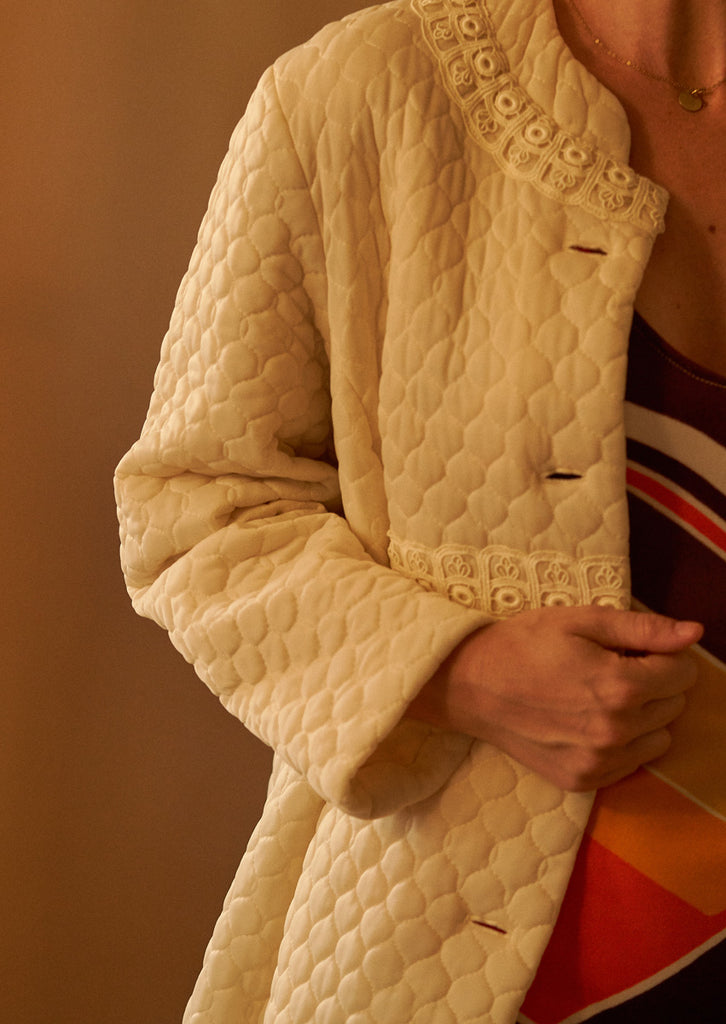 60's Quilted Long Jacket